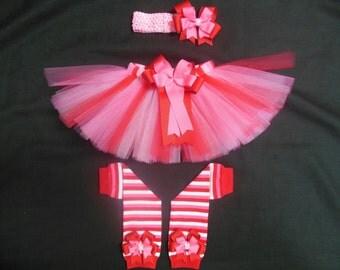 "Valentine's day tutu set, ""Sweetheart"" 3 pieces custom made Newborn-4t"