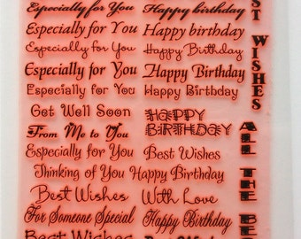 """Greetings / Clear stamps large sheet (7""""x10"""") UM FLONZ 403-102"""