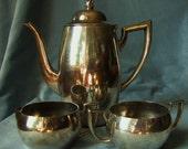 ONEIDA Silversmiths Tea Set Art Deco Style