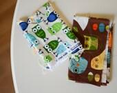 Fabric Destashing -- Owls