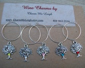 Tree of Life wine glass charms for the wine lover in your life....