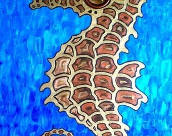 Seahorse Speaker Acrylic Painting Stereo Speaker