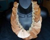 gerda lynggaard monies massive wood bib necklace