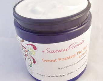 Sweet Potatoe Pie Hair Cream 8 oz size,wild yam extract,natural hair moisturizer,hair butter,leave in conditioner