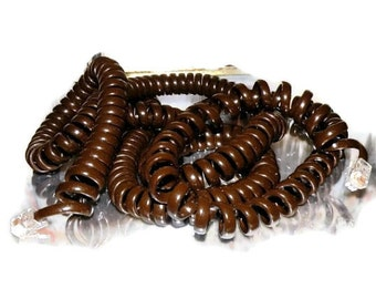 Old Rotary Brown TELEPHONE CORD- Dial Numbers- Home Electronics- CLEARANCE Sale Extra Long