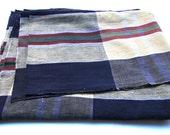 Ikat, Antique Japanese KasuriTextile. Check Plaid Checked Cotton. (Ref. 193)