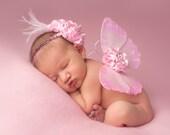 Pink Dreams Vintage Butterfly Wings & Headband