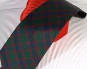 Vintage Tommy Hilfiger Tartan Plaid Silk Necktie 1990