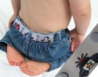 "Toddler Belt - Elastic Snap Belt - ""Heros"""