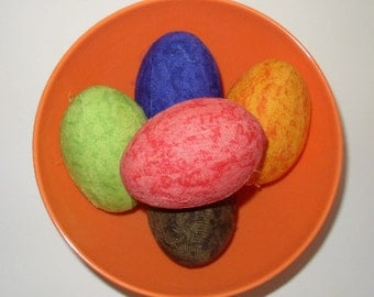 Tie Dyed  Fabric Egg Bowl Fillers