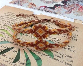 Natural double diamond friendship bracelet