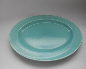 Vintage Large Oval  Green Serving Platter  by Homer Laughlin Co. in Serenade Pattern