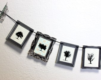 paper garland, miniature art gallery no. 1 - Skeleton Trees
