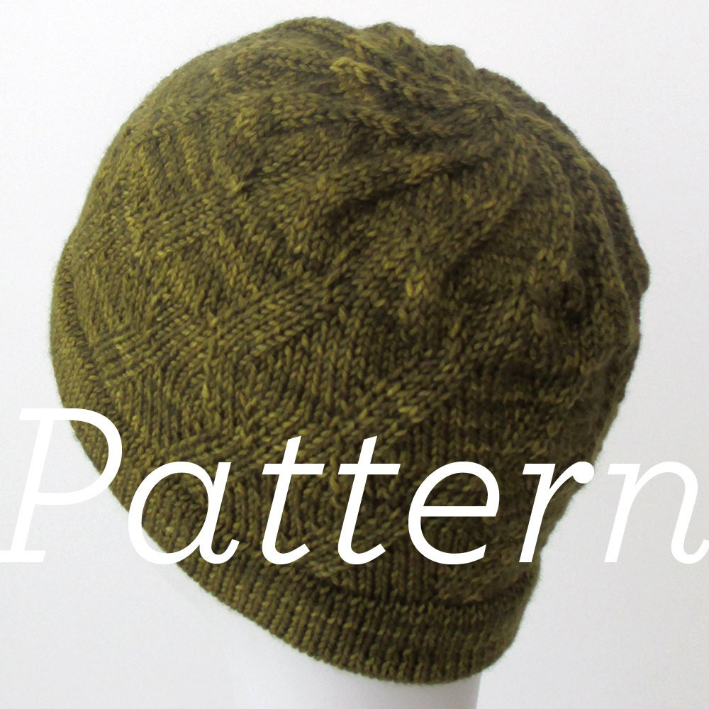 Knit Zig Zag Hat Pattern : Knit hat pattern zigzag swirl only pdf