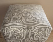 Square Pouf Floor Pillow Willow Grey