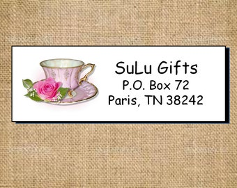 Beautiful Pretty Pink Elegance Roses Personalized Address Labels