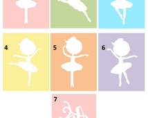 Ballerina art // Nursery Wall Art // Girls Nursery Decor // Ballerina Decor // Decor for Girls // Set of Four 8x10 prints,Choose your Poses