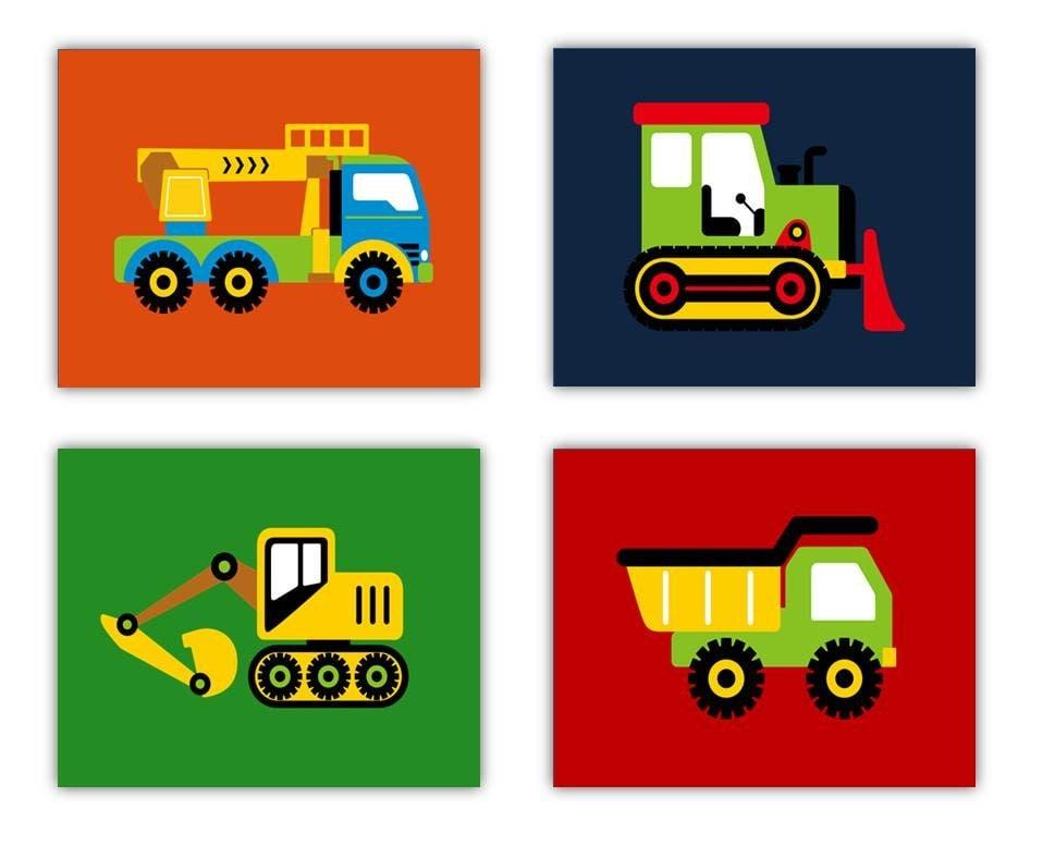 Construction Nursery Decor Construction Trucks Wall Art