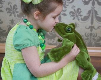 Tiana Dress, Tiana Princess Dress, Disney Inspired Dress, Princess Dress Up, Girls Costume, Halloween Costume
