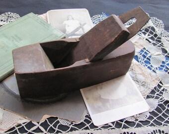 Antique Wood Coffin Plane Carpenter's Tool