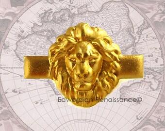 Tie Clip Neo Victorian Lion Head Safari Vintage Style Brass Leo Tieclip Neck Tie Bar Accent