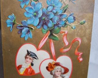 Antique Valentine's Day Postcard  Postmarked February 13, 1910  Epsteam