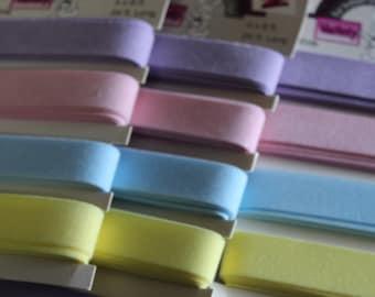 1 Pack Vintage Pastel Flocked Ribbon for Spring
