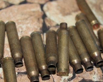 4 Vintage Large Brass Bullet Casings