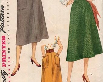 Waist 28-1950's Misses' Skirt Simplicity 4179 Hip 37