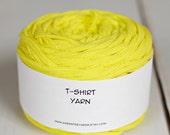 Cotton Tshirt Yarn, Bright Yellow, 49 yards, 7 wpi (335)