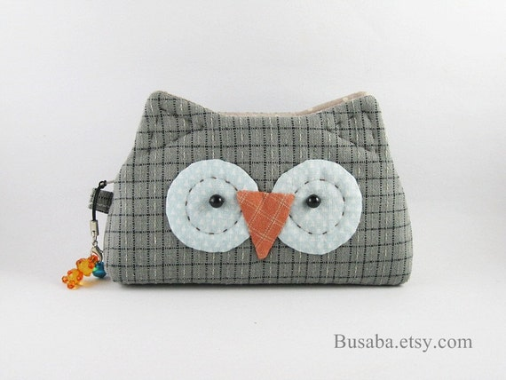 Owl Purse, Owl Coin Purse, Owl Coin Pouch, Owl Zipper Purse, Owl Bag, Small Purse