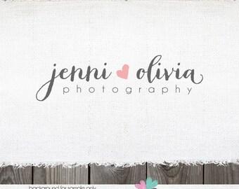 photography logo -logo design premade logo photographer logo premade logo design heart logo photography branding watermark hand drawn