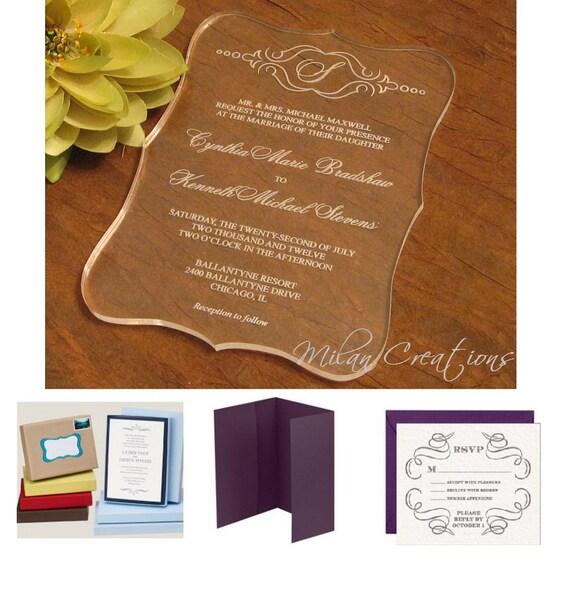items similar to clear acrylic wedding invitation on etsy With acrylic wedding invitations etsy