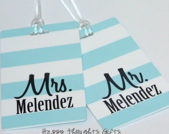 His and Hers Luggage Tags - Couples Luggage Tags - Custom Bag Tags - Wedding Gift - Shower Gift - Mr and Mrs Gift