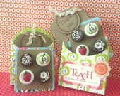 RESERVED for DANA-Teachers Love Chocolate Too - Gourmet Set of Fridge Candy - Handcrafted Magnets PLUS 5.00 Coffee Gift Card