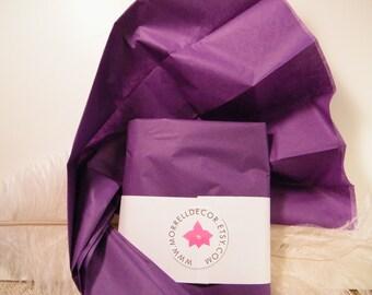 "Tissue Paper - Purple Grape 24 Sheets of 20"" X 30"" -DIY Wedding Decor  Gift Wrap Idea Favor Box Packaging Craft Supplies - DIY Pom Poms"
