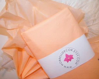 "24 Peach Tissue Paper | BULK Tissue Paper | 20"" X 30""  | DIY Wedding Decor | Gift Wrap | Bridal Shower  DIY Pom Pom | Craft Supplies"