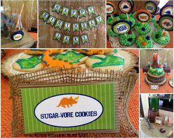 Dinosaur Birthday, Dinosaur Birthday Decorations, Dinosaur Party, Printable