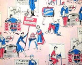 Vintage Wrapping Paper - Extra Extra Happy Birthday Gift Wrap - Full Sheet Second Wave Womens Liberation Feminist