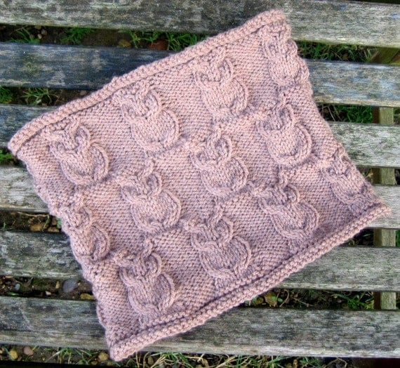 Items similar to Cowl Knitting Pattern, Owl Cables, PDF Instructions, Scarf N...