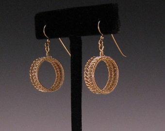 Woven Hoop 14K Gold-Filled Earrings