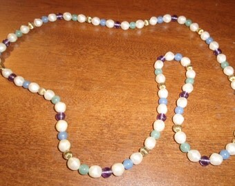 vintage necklace colorful beads