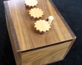 Secret Lock Box II - Can You Open the Box... Put a Gift Inside and Watch the Fun - WALNUT Version