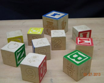 Wooden Blocks toy blocks 10, supplies props