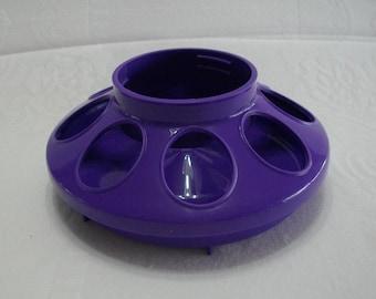 Bird Feeder Purple Plastic Chicken Feeder for Mason Jar Bird Feeder