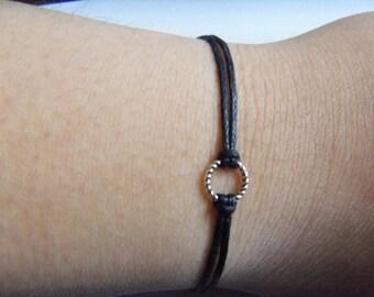 Tiny Karma Circle Bracelet