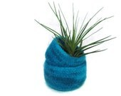 Turquoise felted bowl - waldorf toy - peacock teal nesting bowls - Set of two Cozy gift home decore fall