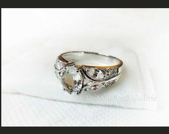 Goshenite Ring - 9k White Gold (Made to Order)