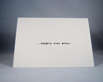 Valentines card Happily Ever After anniversary wedding