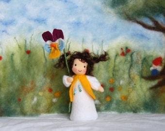 Viola Tricolor child   / flower child / Nature Table / Waldorf